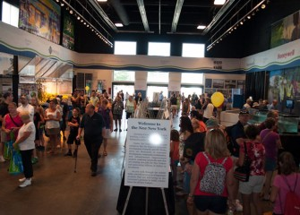 "This year's New York State Fair featured a new exhibit in the Center of Progress Building called ""Onondaga Lake: A Fresh Gateway to the New New York."""