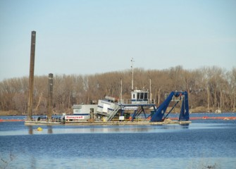 Dredging continues until the third week in November, when operations cease for the winter.