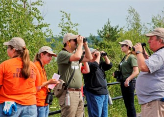 Volunteers rotate through several activities.  With help from Audubon, 41 species of birds are recorded, including wood duck, killdeer, downy woodpecker, and American goldfinch, to name a few.