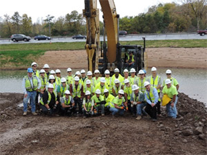 Members of the Nine Mile Creek construction team.
