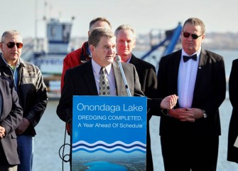 """The completion of the dredging portion of the Onondaga Lake cleanup project is another significant step towards full lake remediation,"" said Ken Lynch, DEC Regional Director."