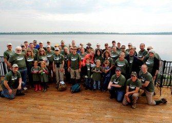 Fifty-one volunteers attended an event to build and install bird boxes and plant native vegetation along the western shoreline of Onondaga Lake.