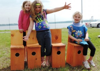 Members of Girl Scout Daisy Troop 41140 from North Rose built larger nest boxes for American kestrels, North America's smallest falcon.