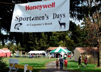 Participants begin arriving to Honeywell Sportsmen's Days at Carpenter's Brook, held September 26th and 27th.