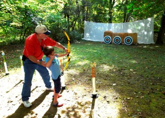 The annual Honeywell Sportsmen's Days at Carpenter's Brook draws budding outdoor enthusiasts of all ages, including many children.