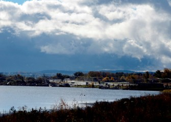 Further south along the Onondaga Lake shoreline, near I-690, is the support area for capping activities on Onondaga Lake, which continue through fall 2015 and will resume next spring.