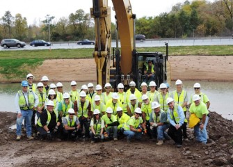 On October 15, the Nine Mile Creek construction team marks completion of the Nine Mile Creek cleanup and restoration.
