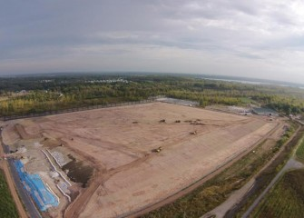 By the end of September the leveling layer at the consolidation area is nearly complete.