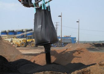Granulated activated carbon is mixed with sand to make capping material for the isolation layer.