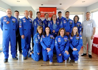 Nine of the 31 Central New York teachers who have attended Honeywell Educators at Space Academy since 2006 were present to support the new 2016 class of Honeywell Educators.