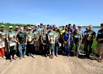 Nearly 40 volunteers participated in an Onondaga Lake Conservation Corps event on June 18 to build, install and survey habitat structures and birds and wildlife along the Western Shoreline.