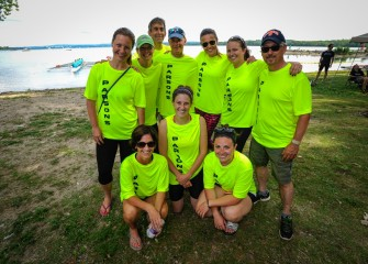 One of 16 corporate sponsored teams competing on Saturday was Parsons, part of the Onondaga Lake Cleanup Team.