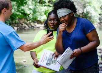 Students also learn how to use GPS data during their scientific exploration of the watershed.