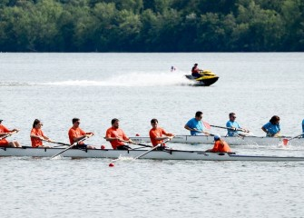 Competitive rowing promotes fitness, coordination and teamwork.