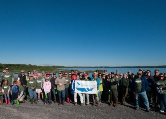 Sixty-seven Onondaga Lake Conservation Corps volunteers met on a beautiful Saturday morning in September to help enhance newly created habitat near the mouth of Nine Mile Creek.