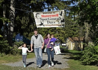Honeywell Sportsmen's Days at Carpenter's Brook draws thousands of participants including many families, such as the Klines, of Cato - (from left) Ellise, Ryan, Janelle and Cecilly.