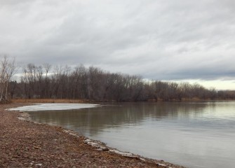 An area of Onondaga Lake near the Nine Mile Creek outlet before it is transformed into new wetlands.