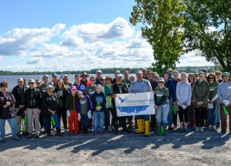 Thirty-eight community members with the Onondaga Lake Conservation Corps took part in habitat restoration along the southwest shoreline on a Saturday morning.