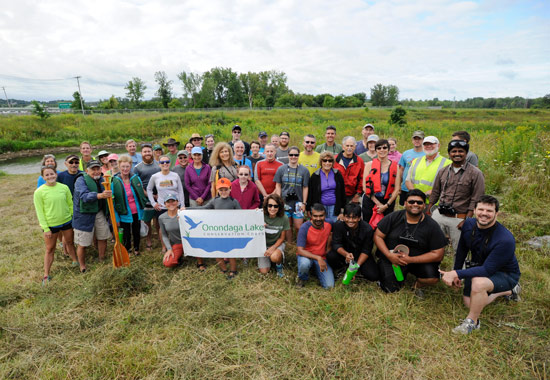 Forty-one Central New Yorkers participated in a Nine Mile Creek paddle.