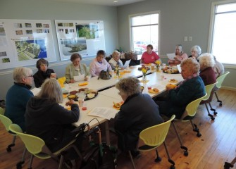 After the tree planting, the Garden Center Association of Central New York held a meeting at the Onondaga Lake Visitors Center.