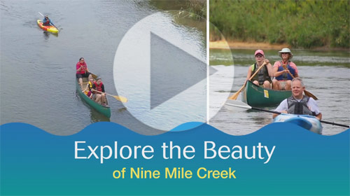 Watch a video to learn about the newly restored Nine Mile Creek.
