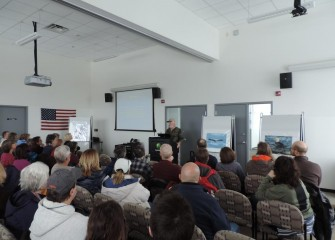 """Restoring the Bald Eagle: A 40-Year Journey,"" a free presentation hosted by the Onondaga Lake Conservation Corps, is attended by more than 120 community members."