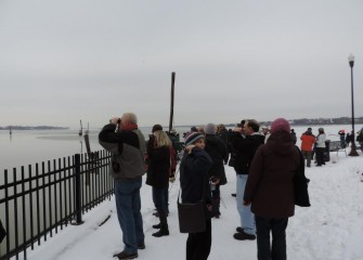 After the presentation, attendees go on a birding walk led by Onondaga Audubon Society members along the Onondaga Creekwalk.