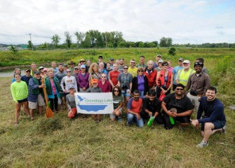 Forty-one community members participated in a paddle discovering a restored Nine Mile Creek on Saturday, August 19.