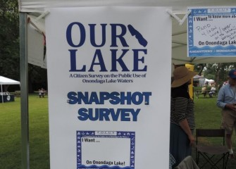 "F.O.C.U.S .Greater Syracuse solicits input from Lakefest attendees about their future vision and interest in ""Our Lake."""