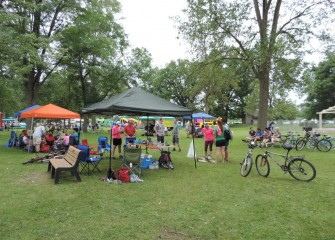 Despite an overcast sky and occasional showers, many come out to enjoy a day of activities at Onondaga Lake.