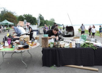 "This year's Onondaga Cup & Lakefest also included ""Cooking at the Cup,"" a culinary competition between eight local top chefs."