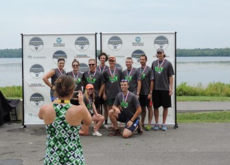 Winners of the 2nd Annual Onondaga Cup corporate regatta were King + King Architects.