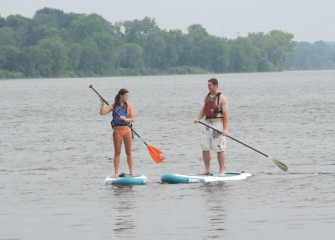 Paddleboards, kayaks and other watercraft were also available for rent during the Lakefest.