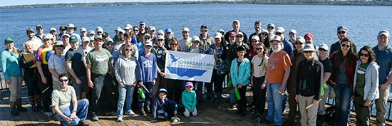 Since the formation of the Corps, 20 events have brought together more than 800 volunteers who have become environmental stewards and Corps members. In recognition of their work, the Onondaga Lake Conservation Corps was awarded a U.S. Environmental Protection Agency 2015 Environmental Champion Award.