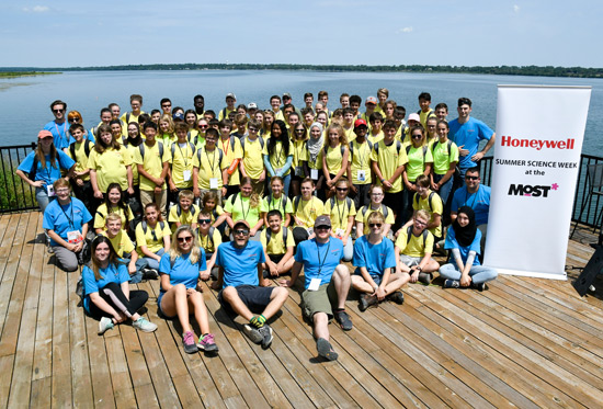 2018 Honeywell Summer Science Week participants