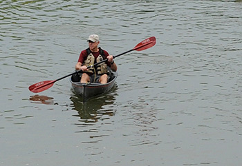 """""""The paddle was an amazing opportunity to see how much work has been done and learn why specific species were planted,"""" said participant John Scott, pictured above. """"Seeing the habitat growth in the restored areas and the wildlife that has returned was incredible."""""""