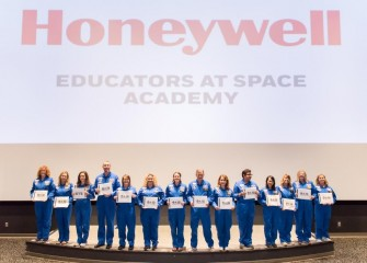 Team graduation photo (Erin Emanuele, 3rd from left). In addition to learning new instructional exercises, teachers build a network of peers from around the world to continue collaborating and developing their STEM education goals.