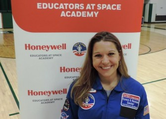 Bishop Ludden Junior-Senior High School Math teacher and 2018 HESA scholarship recipient Michelle Hall is one of two Central New York teachers among 200 from around the world attending Honeywell Educators at Space Academy in 2018.