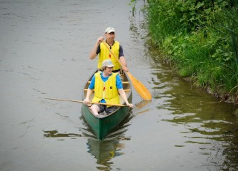 The paddle route offered close up views of diverse native vegetation, as observed by Angela and Alex Thor, of Syracuse.