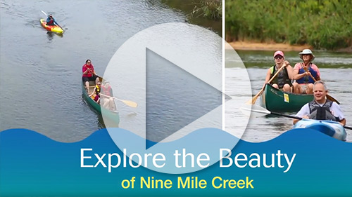 Watch a video to learn about the restored Nine Mile Creek.