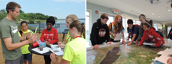 The Onondaga Lake Visitors Center regularly hosts group tours, including school groups. To schedule a group tour, please call 315-552-9751 or submit this form.