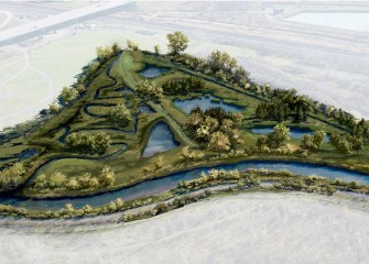 Artist's rendering of future Geddes Brook and Nine Mile Creek