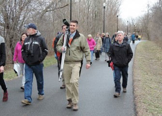 After the presentation, participants proceeded along the Onondaga Creekwalk to Onondaga Lake to spot birds and other wildlife.