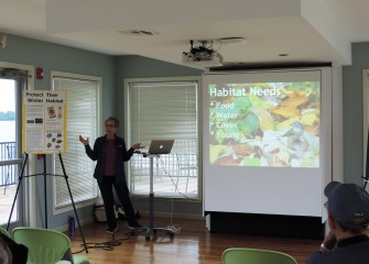 "On Saturday, June 2, the Onondaga Lake Conservation Corps hosted a talk by Janet Allen, President and Co-founder of Habitat Gardening in Central New York, titled, ""Creating a Bird-Friendly Yard"" at the Onondaga Lake Visitors Center."