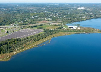 The transformation of the Western Shoreline of Onondaga Lake has created healthy habitat for reptiles, amphibians and shorebirds, and recreational opportunities on the county's West Shore Trail and at a new amphitheater.